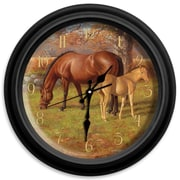 ReflectiveArt Classic Wildlife 16'' A Proud Heritage Wall Clock