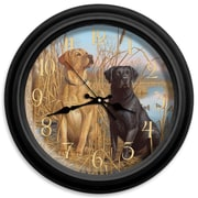 ReflectiveArt Classic Wildlife 16'' Cats and Dogs Wall Clock