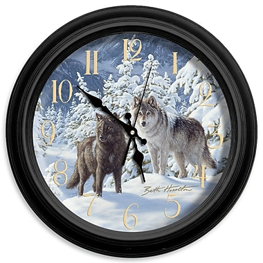 ReflectiveArt Classic Wildlife 16'' Mount Majesty Wall Clock