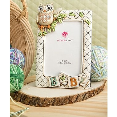 FashionCraft Gifts Baby Owl Picture Frame; 4'' x 6''