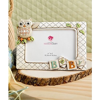 FashionCraft Gifts Baby Owl Picture Frame; 6'' x 4''