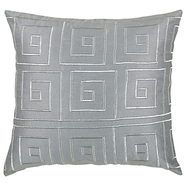 Wildon Home Throw Pillow; Grey