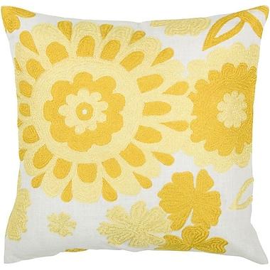 Wildon Home Throw Pillow; White / Yellow