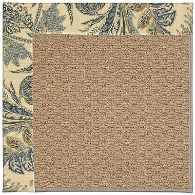 Capel Zoe Machine Tufted High Seas/Brown Indoor/Outdoor Area Rug; Square 8'