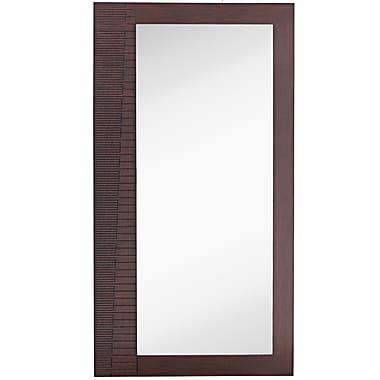 Majestic Mirror Large Rectangular Modern Dark Brown Full Length Wood Frame Wall Mirror