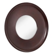 Majestic Mirror Large Disc Mirror w/ Thick Wenge Brown Frame