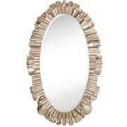 Majestic Mirror Oval Antique Silver Leaf Ornate Framed Beveled Glass Wall Mirror