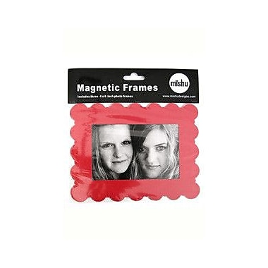 Mishu Designs Magnetic Frame (Set of 3); Red