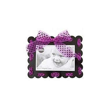 Mishu Designs Ribbon Magnet Picture Frame; Black