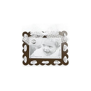 Mishu Designs Ribbon Magnet Picture Frame; Brown