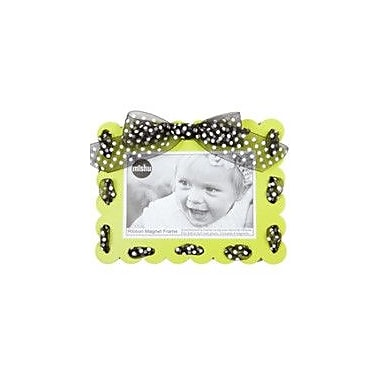 Mishu Designs Ribbon Magnet Picture Frame; Lime Green