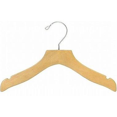 Only Hangers Inc. Children's Wooden Wavy Top Nursery Hanger (Set of 25); Natural