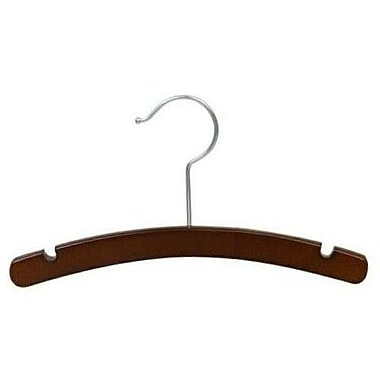 Only Hangers Inc. Infant Wooden Top Nursery Hanger (Set of 25); Walnut