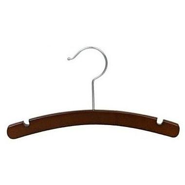 Only Hangers Inc. Infant Wooden Top Nursery Hanger (Set of 50); Walnut