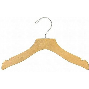 Only Hangers Inc. Children's Wooden Wavy Top Nursery Hanger (Set of 50); Natural