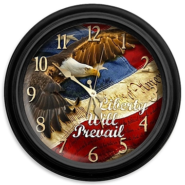 ReflectiveArt Classic Wildlife 16'' Liberty Will Prevail Wall Clock