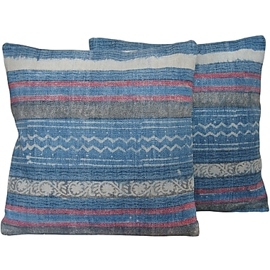 Herat Oriental Cotton Throw Pillow (Set of 2)
