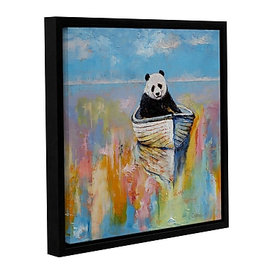 ArtWall Panda by Michael Creese Framed Painting Print on Wrapped Canvas; 18'' H x 18'' W