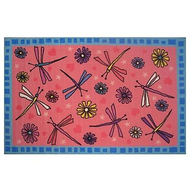 Fun Rugs Fun Time Dragonflies Red Area Rug; 1'7'' x 2'5''