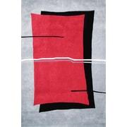 American Home Rug Co. Handmade Red/Grey Area Rug; 3'6'' x 5'6''
