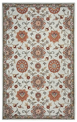 Rizzy Home Ashlyn Collection New Zealand Wool Blend 8'x10' Orange (ASHAL257700040810)