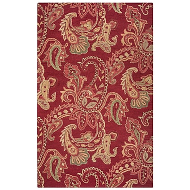 Rizzy Home Ashlyn Collection New Zealand Wool Blend 2' x 3' Burgundy (ASHAL265100700203)