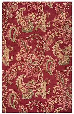 Rizzy Home Ashlyn Collection New Zealand Wool Blend 5'x8' Burgundy (ASHAL265100700508)