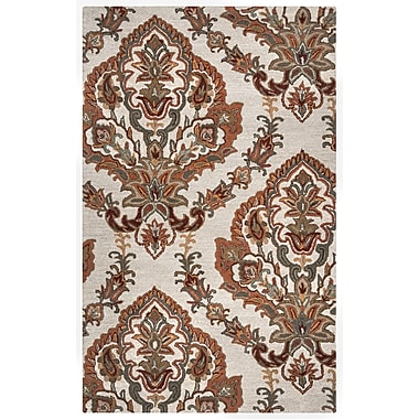 Rizzy Home Ashlyn Collection New Zealand Wool Blend 3' x 5' Ivory (ASHAL266500040305)