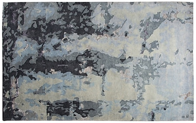 Rizzy Home Avant-Garde Collection New Zealand Wool Blend with Viscose Accents 9'x12' Gray (AVGAG879400330912)