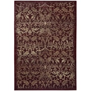 "Rizzy Home Chateau Collection 100% Heat-Set Polypropylene 9' 10""x12' 6"" Burgundy (CHTCH443600709116)"