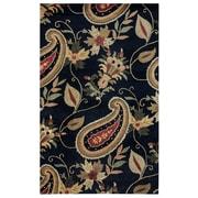 Rizzy Home Destiny Collection 100% Hard-Twist Wool 5'x8' Black (DSTDT092000060508)