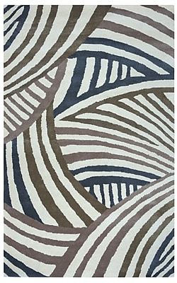 Rizzy Home Fusion Collection New Zealand Wool Blend 5'x8' Brown/Gray (FUSFN858200370508)