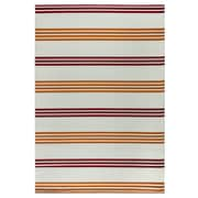 "Rizzy Home Glendale Collection 100% Polypropylene 6'7""x9'6"" Orange/Burgundy (GLDGD590400376796)"