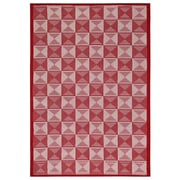 """Rizzy Home Glendale Collection 100% Polypropylene 6'7""""x9'6"""" Red (GLDGD700800706796)"""