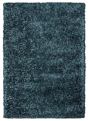 Rizzy Home Kempton Collection 100% Polyester 8'x10' Gray Blue (KNMKM155800820810)