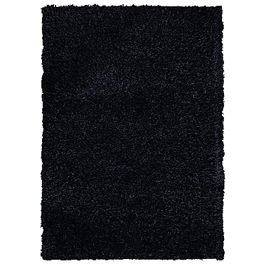 Rizzy Home Kempton Collection 100% Polyester 9'x12' Black (KNMKM159300060912)