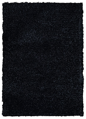 Rizzy Home Kempton Collection 100% Polyester 8'x10' Black (KNMKM159300060810)