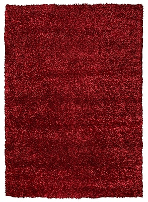 Rizzy Home Kempton Collection 100% Polyester 5' x 7' Red (KNMKM231000490507)