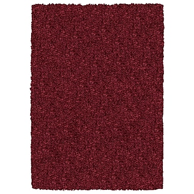 Rizzy Home Kempton Collection 100% Polyester 5' x 7' Burgundy/Merlot (KNMKM232000140507)