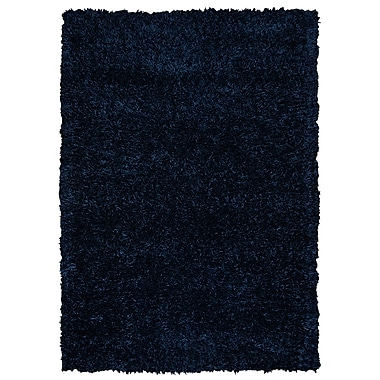 Rizzy Home Kempton Collection 100% Polyester 8'x10' Dark Blue (KNMKM244300090810)