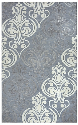 Rizzy Home Lancaster Collection 100% Wool 5'x8' Blue Gray (LANLS956200330508)