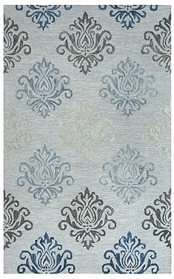 Rizzy Home Lancaster Collection 100% Wool 9'x12' Gray (LANLS956300460912)