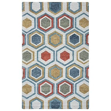 Rizzy Home Lancaster Collection 100% Wool 5'x8' Multi-Colored (LANLS957500040508)