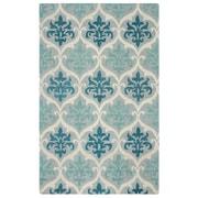 Rizzy Home Lancaster  Collection 100% Wool 5'x8' Blue/Aqua (LANLS973700460508)