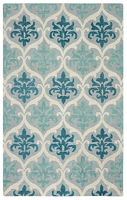 Rizzy Home Lancaster Collection 100% Wool 8'x10' Blue/Aqua (LANLS973700460810)