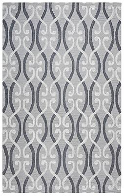 Rizzy Home Loureli Collection 100% Wool 8'x10' Light/Dark Gray (LOULR947446370810)