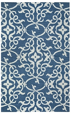 Rizzy Home Loureli Collection 100% Wool 8'x10' Blue (LOULR961300520810)