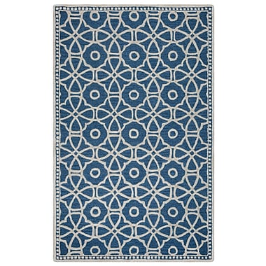 Rizzy Home Lunicca Collection 100% Wool 5'x8' Blue (LUNLI951100520508)