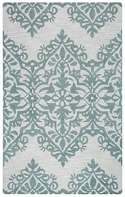 Rizzy Home Lunicca Collection 100% Wool 8'x10' Green/Gray (LUNLI951400330810)