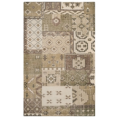 Rizzy Home Maison Collection Hand-Spun New Zealand Wool 3' x 5' Ivory/Khaki (MSNMS866200040305)